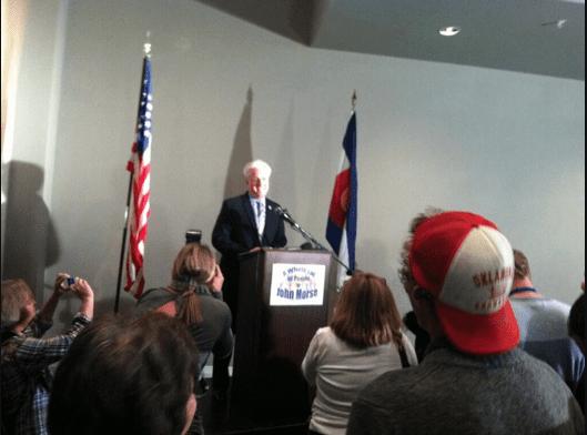 Colorado Democrat Senate Majority Leader John Morse concedes.